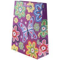 Пакет подарочный Цветы - 18*23*9 см - Без ламинации