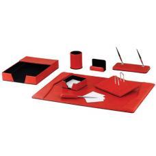 Настольный набор Brauberg Germaium - Экокожа - Красный - 8 предметов