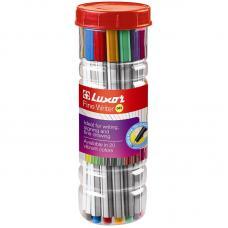 Набор капиллярных ручек Luxor - 20 цветов - 0,8 мм