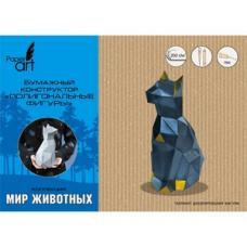 Полигональная фигура Кошка - 13*27 см - Белая