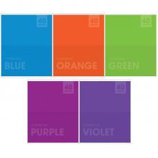 Тетрадь - Яркие цвета - А5 - 40 листов - Клетка