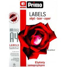 Наклейки бумажные ePrimo -  А4 - 40 этикеток - 52,5*29,7 мм - 100 листов