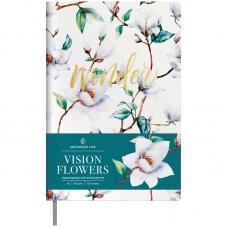 Ежедневник Greenwich Line Flowers - Недатированный - A5 - 136 листов - Кожзам