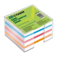 Бокс пластиковый с бумагой для заметок Стамм - 9*9*5 см