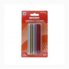 Клеевой стержень Rexant - 7 мм - Цветной с блестками