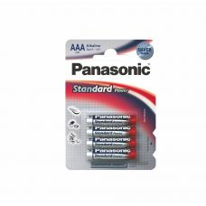 Батарейки алкалиновые Panasonic Standard LR03 - ААА - 1,5В - 4 штуки