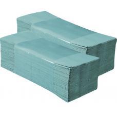 Полотенца бумажные Merida Ekonom - ZZ-сложение - 200 штук - Зеленые